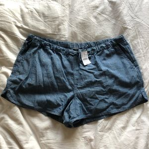 J. Crew denim drawstring shorts size L